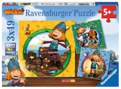 Ravensburger 094097  Puzzle Wickie der kleine Wikinger 3 x 49 Teile