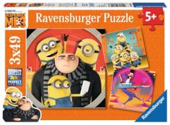 Ravensburger 80168 Puzzle Abenteuer mit den Minions, 3x49 Teile