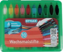 Stylex 10 wasservermalbare Wachsmalstifte mit Steckfunktion