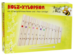 Boogie Bee Holz Xylophon 12 Noten,ca. 35 cm, Kinderinstrument, ab 3 Jahren